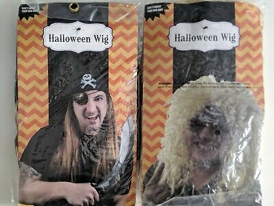 Styling Halloween Wigs (Rocker Style Blonde Rocker and Pirate Halloween Wigs With Cap)