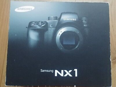 Samsung NX1 4k mirrorless DSLR Camera  Boxed with manuals in mint condition.