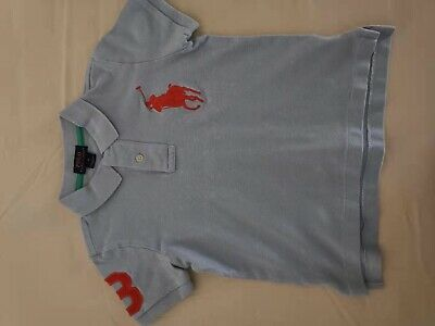 Ralph Lauren Kinder Polo Shirts Blau und Orange!Große Für 3-4 Jahre