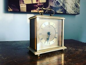 Vintage 70s Junghans Brass/Marble Carriage Clock