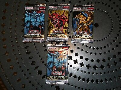 Giants Booster Pack - 4x Yugioh Battle pack 2 War of the Giants booster packs. 1st edition. Brand New.