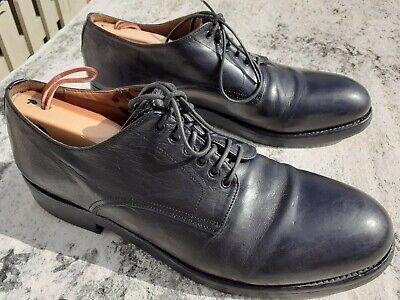 Officine Creative BLACK Leather Mens DERBY Dress Shoes Size 43.5EU - US10.5