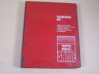 Same Vigneron 60 Tractor Dealer Parts Catalog Manual Book