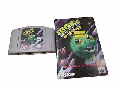 Iggy's Reckin Balls N64 PAL EUR Version Not US Cartridge & Manual