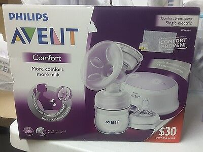 Philips Avent Single Electric Comfort Breast Pump, 5 PC Bonus Kit + $30 Coupons!