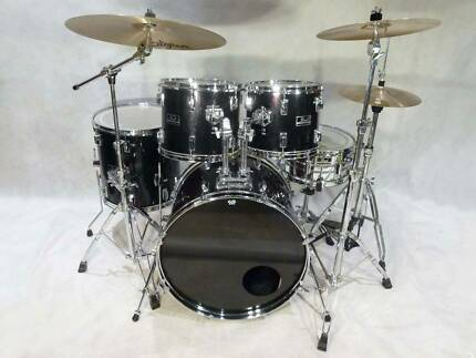 Pearl Export 5pce Midnight black Drum Kit [DK 0855]