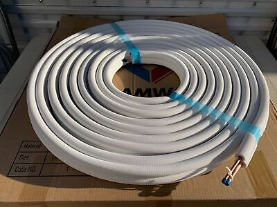 14 X 38 X 50 Ft Insulated 100copper Tubing Ac Mini Split Ductless Line Set