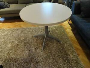 Genuine Italian Segis White Round Dining / Meeting Table #2 Lutwyche Brisbane North East Preview