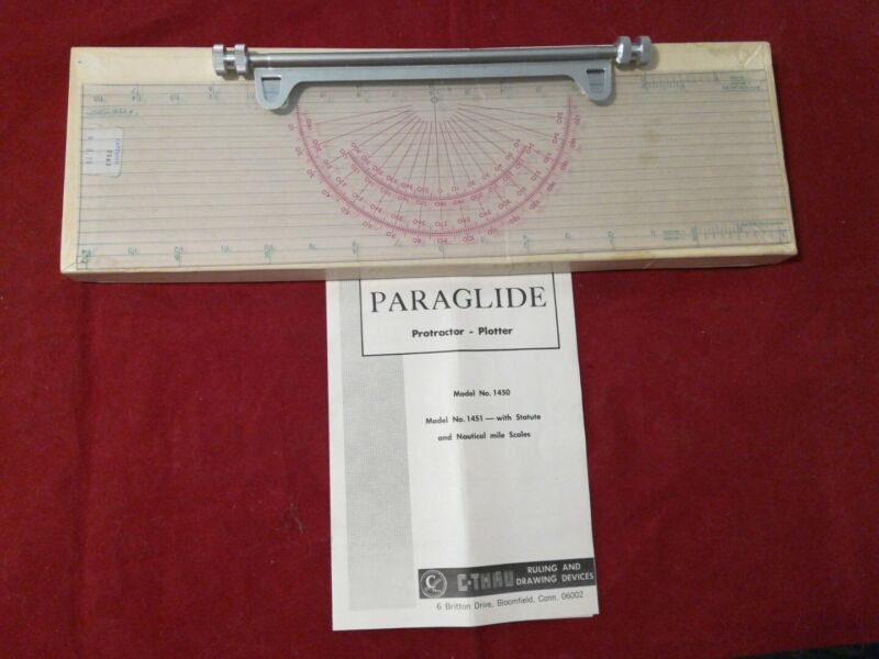 Vintage C-Thru Paraglide Protractor Plotter Nautical Statute Ruler Model #1451