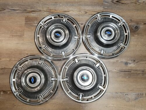 1965 65 Chevrolet impala Biscayne14inch wheel hubcaps gm oem set of four