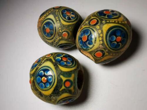 Chinese Translucent Glass beads azure stone colored glaze pendant beads 8#