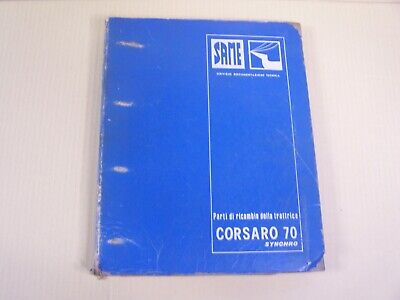 Same Corsaro 70 Synchro Tractor Dealer Parts Catalog Manual Book