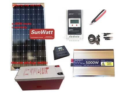 12V off grid solar panel, controller, inverter,  GEL battery... Acacia Ridge Brisbane South West Preview
