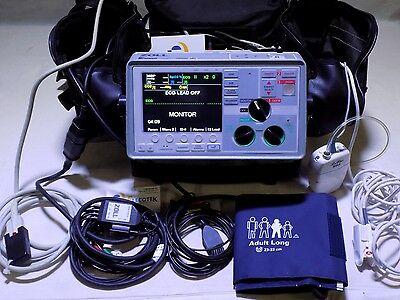 Zoll E Series 12 Lead Dc Power Bluetooth Nibp Spo2 Etco Loflo Pacing Battery Cas