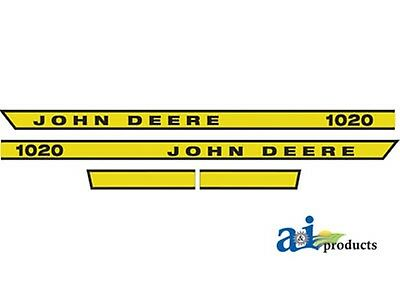 Hood Decal John Deere 1020 Tractor Hd High Quality Replacement
