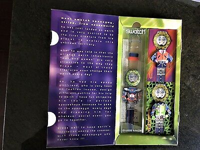 """SWATCH WATCH """"STRIPP"""" SPECIAL PACKAGE SDN120 PACK GREAT GIFT NIB"""