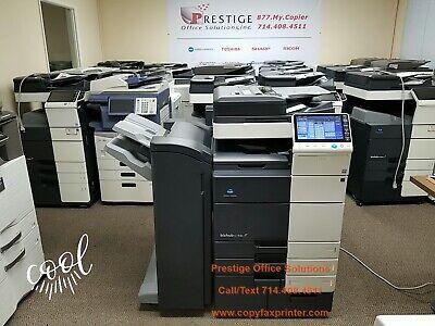 Konica Minolta Bizhub C754e Color Copier Printer Scanner. Meter Only 158k