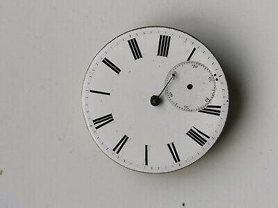 VINTAGE KEY WOUND ENAMEL DIAL POCKET WATCH MOVEMENT SELLING FOR PARTS SPARES REP