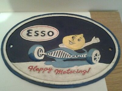 esso cast iron sign/plaque