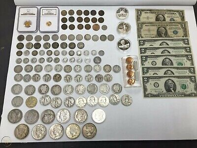 Estate Sale Coins ~ Auction Lot Silver & Gold Bullion ~ Currency Collection