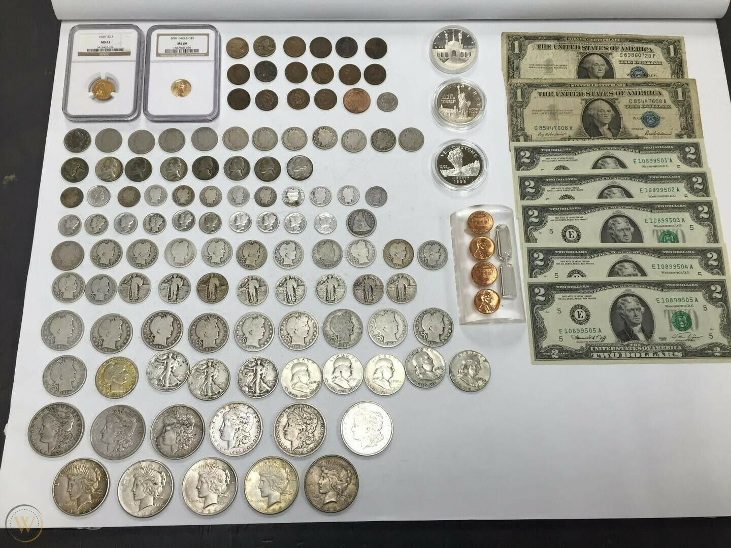 Best  ESTATE SALE COINS ~ AUCTION LOT SILVER BULLION ~ CURRENCY COLLECTION