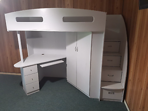 Bunk bed with cupboard and desk Elizabeth Downs Playford Area Preview