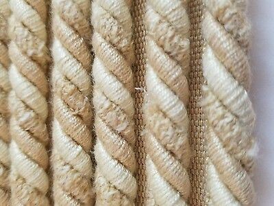 8 Yds Decorative Trim Pillows Crafts Home Decor Holiday Sewing Cream cord w lip ()