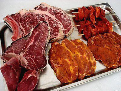 """Grillpaket """"Rind- Schwein"""" ,T-Bone Steak, Rib-Eye Steak, Nackensteak, Grillspieß"""