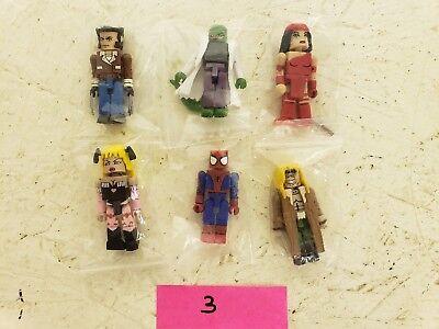 Superheros And Villians (Minimates Superhero and Villian Set of 6 Figures LOOSE set)