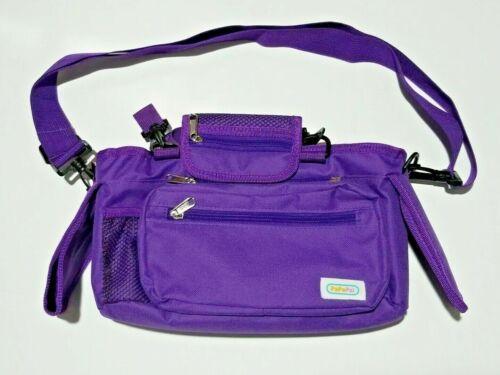 Insulated Child/Pet Stroller Organizer/Bag Purple Detachable Zippered Pouch