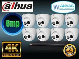 CCTV Dahua 8 x 6mp HD Camera System - Installed