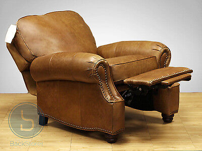 - NEW Barcalounger Longhorn II Chaps Saddle Leather Manual Recline Chair Recliner