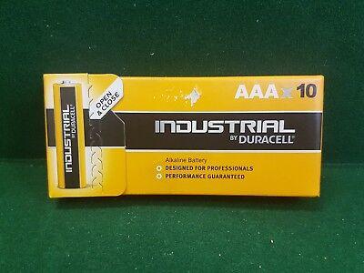 10 x DURACELL INDUSTRIAL AAA TRIPLE A PLUS POWER ALKALINE BATTERIES LR3 MN2400  Industrial Plus Alkaline-batterien