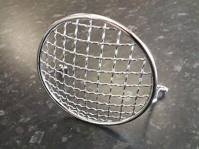 Vespa V50 V90 V100 Chromed Headlight Headlamp Grille NEW!!