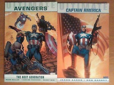 Ultimate Avengers & Captain America Graphic Novels - Marvel Comics (2 Books)