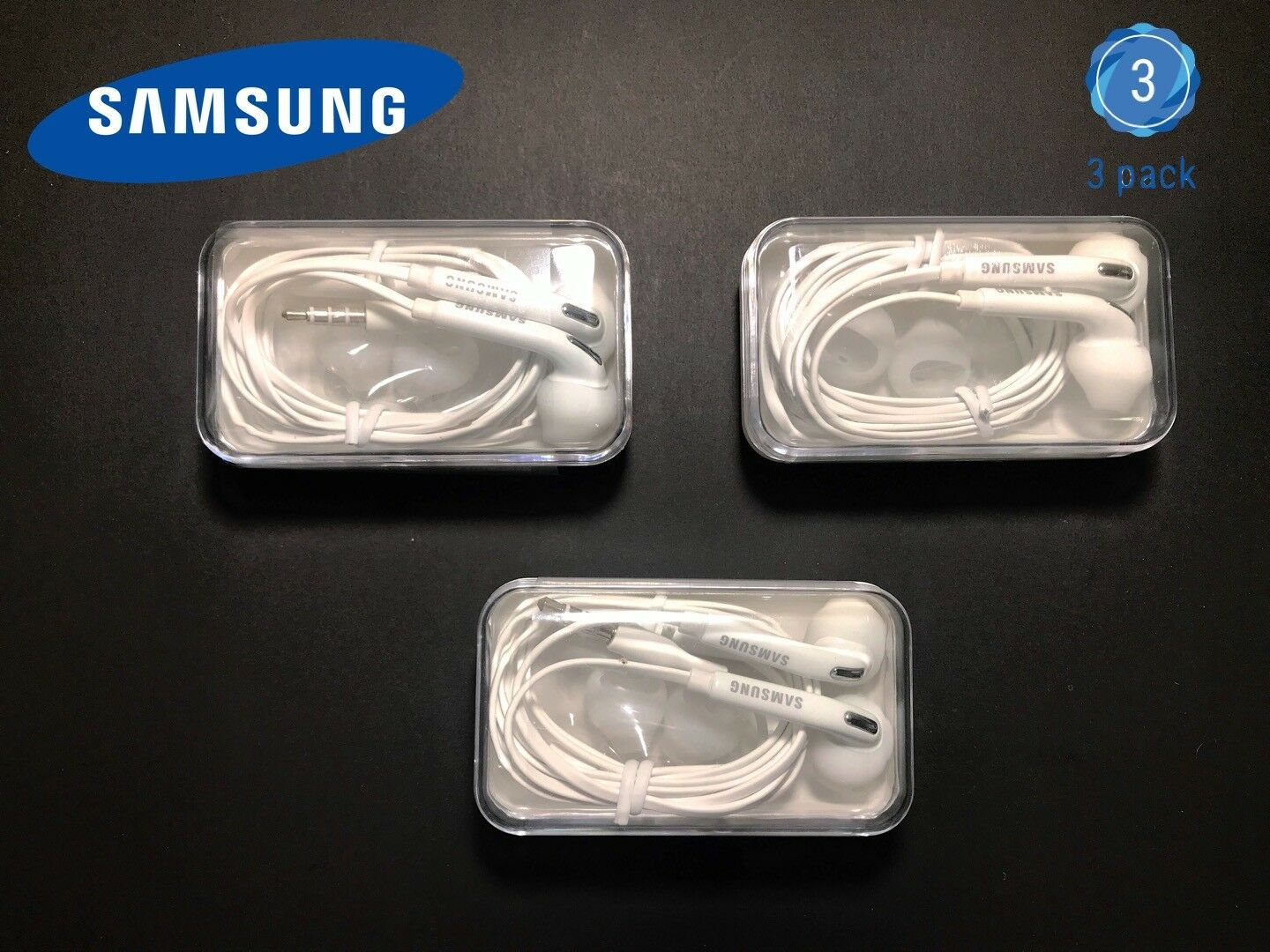 3x OEM Original Samsung Galaxy S6 Edge+ Note 5 Headset Earph