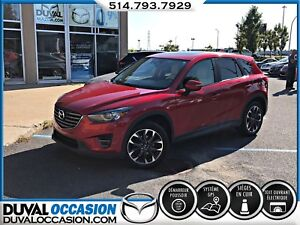 2016 Mazda CX-5 GT + TOIT OUVRANT + NAVIGATION + CUIR BLANC