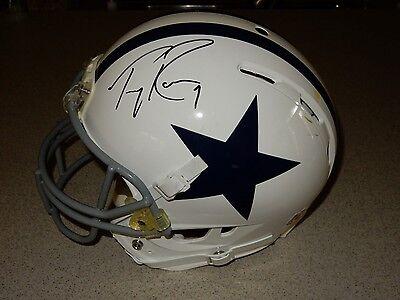 Tony Romo Autographed Game Used Helmet Riddell Dallas Cowboys COA