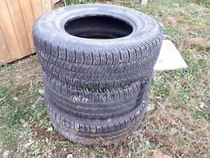 3 Goodyear Wrangler tires for sale all SR-A 25575 R17s