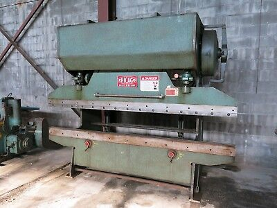 Nice Chicago 68-b Mechanical Press Brake W Front Operated Mechanical Backgauge