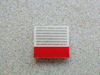 Lego 4215ap01 Panel 1x4x3 with Red Bar and White Grille Pattern