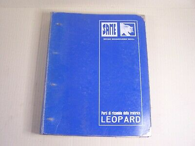 Same Leopard Tractor Dealer Parts Catalog Manual Book