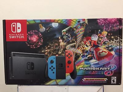 Nintendo Switch Console W Mario Kart 8 Deluxe