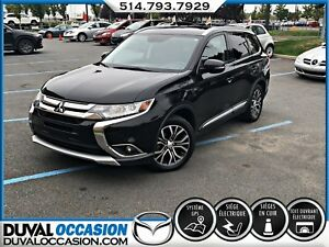 2016 Mitsubishi Outlander GT AWD +GPS + CUIR + TOIT OUVRANT + 7