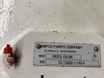 Ampco Rbzp2-130-sl Positive Displacement Pump Head Size 60