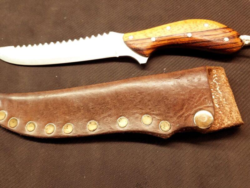 Phill Hartsfield senior fighting knife with sheath!