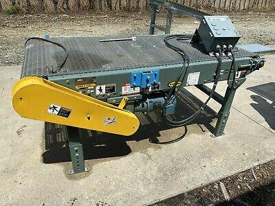 32 Wide X 72 Long Hytrol Wire Mesh Roller Bed Belt Conveyor