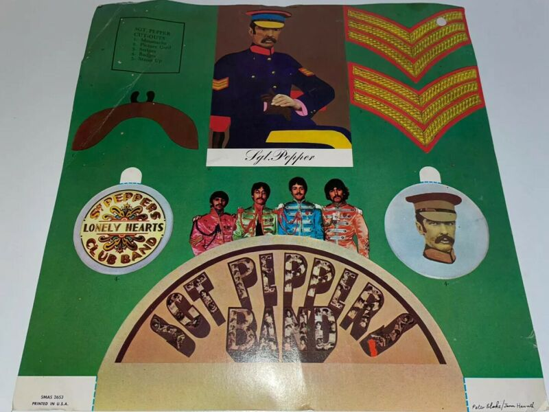 The Beatles Sgt Pepper Lonely Hearts Club Band Paper Cutouts Page
