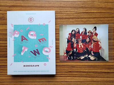 Twice Page Two Monograph Photobook DVD 9 Postcard Full Set K-POP