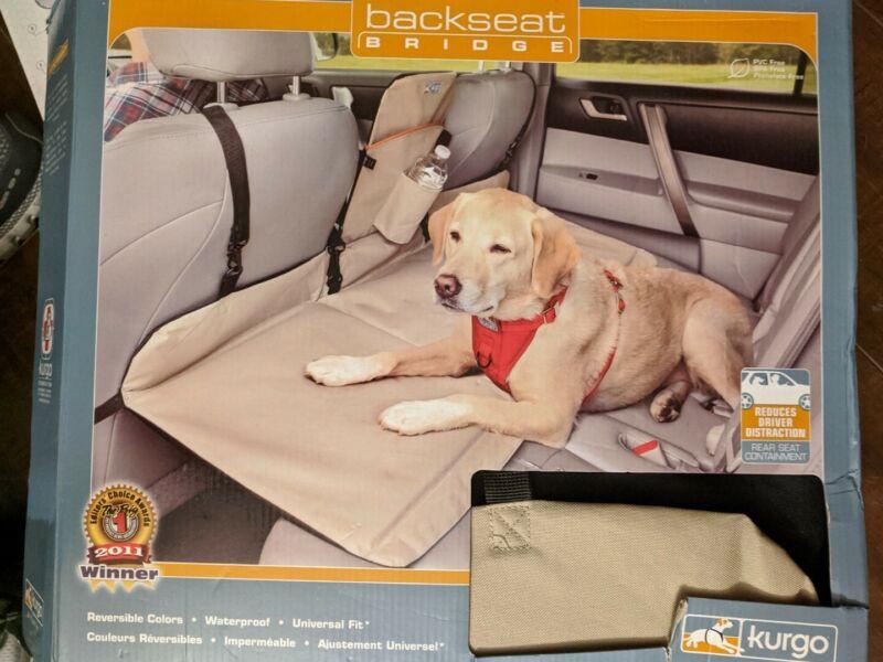 KURGO - DOG BACKSEAT BRIDGE CAR EXTENDER - PADDED - Up to 100LBS -  Univ Fit